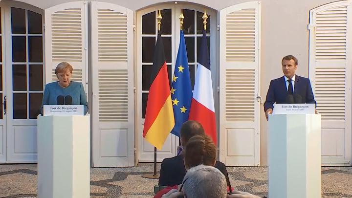 Μήνυμα Μακρόν- Μέρκελ: Δεν θα αποδεχθούμε επιθέσεις στην κυριαρχία μελών της ΕΕ